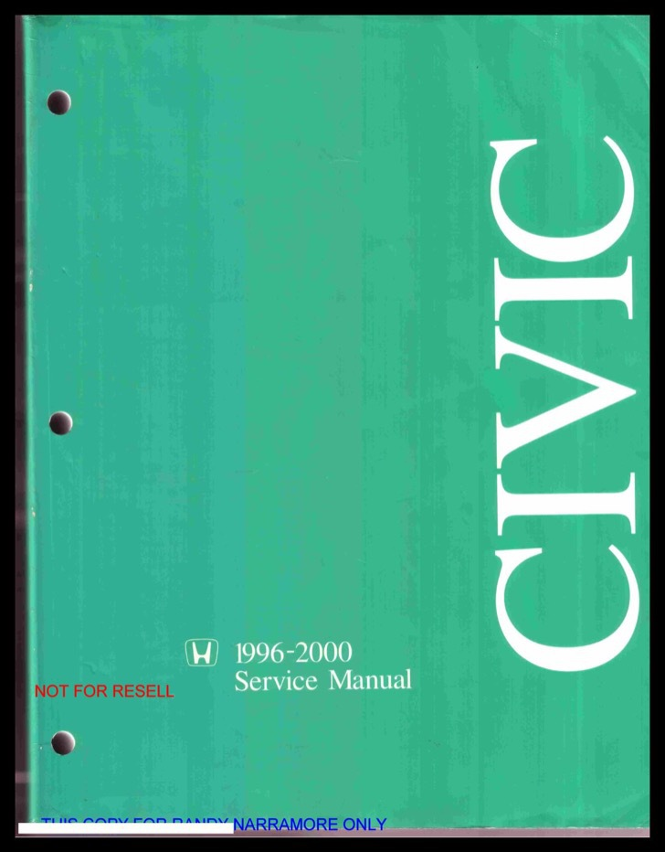 Honda Service Manual Sample
