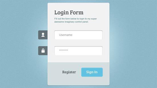 Horizontal Responsive Login Form UI Design