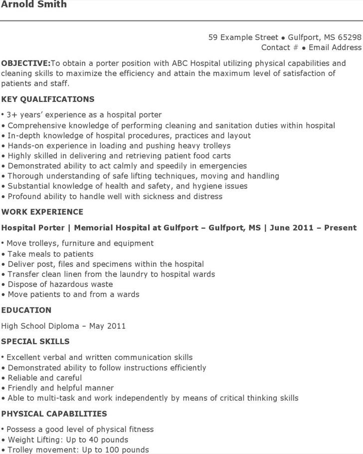 6  porter resume templates free download