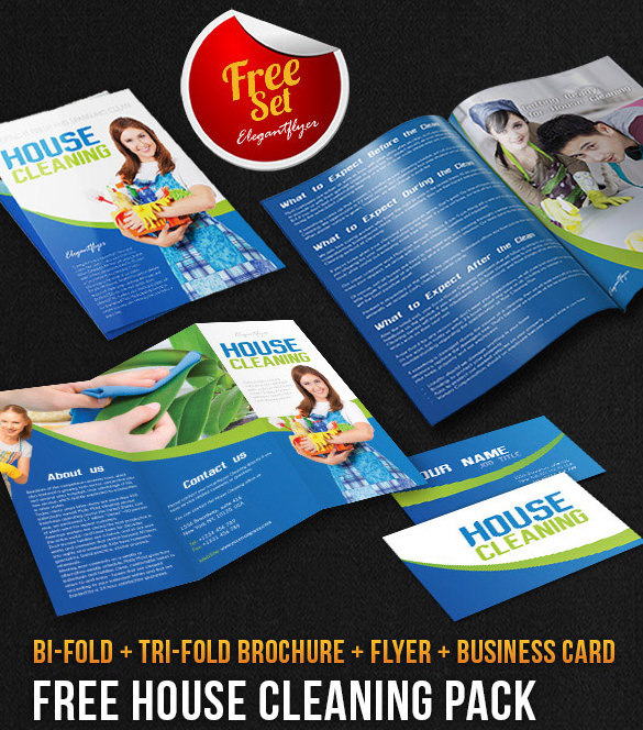 House Cleaning Brochure Pack - Free PSD Template Download