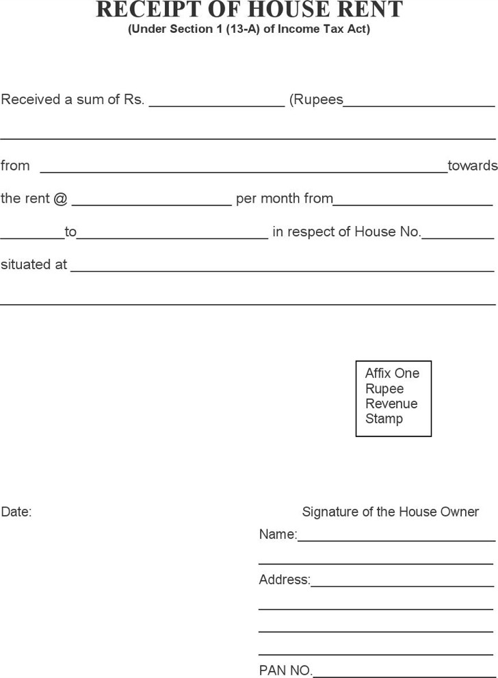 House Rental Invoice Template