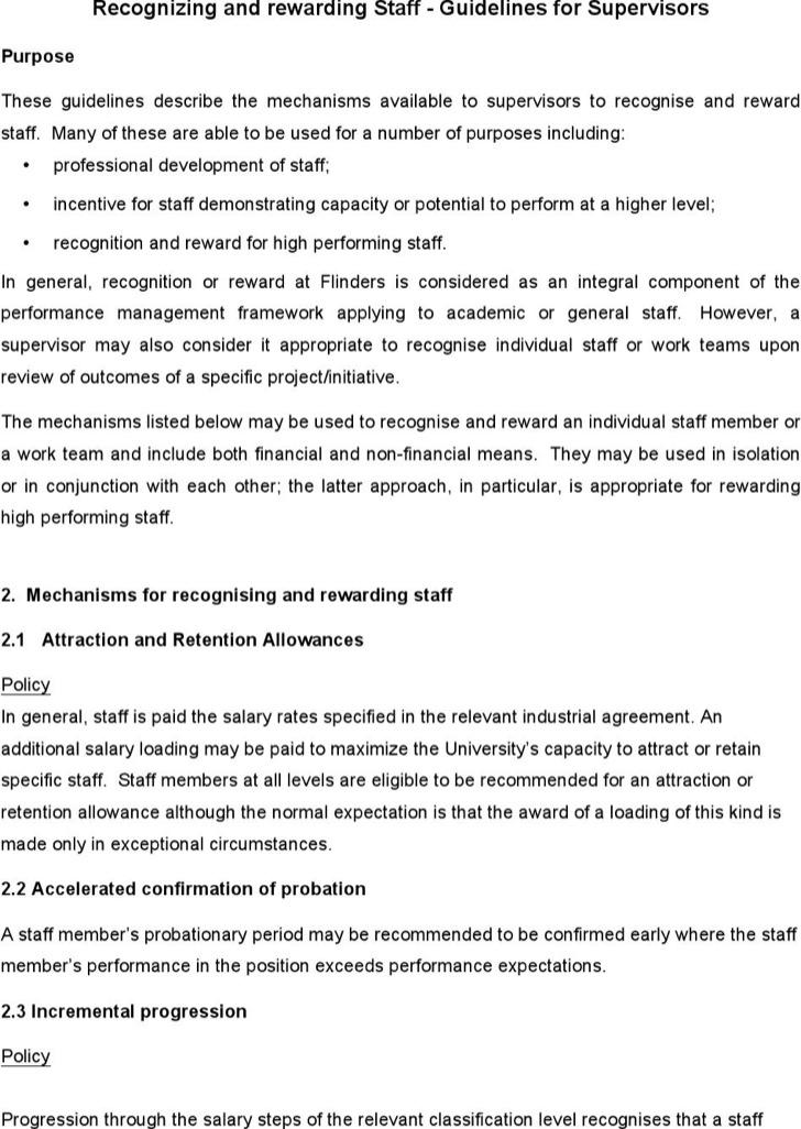 Hr Guidelines For Supervisors