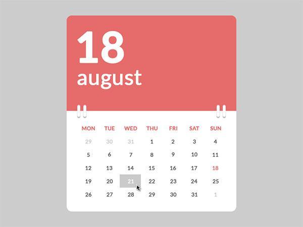 HTML Calendar Template