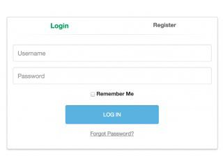 HTML Coded Login Form Template