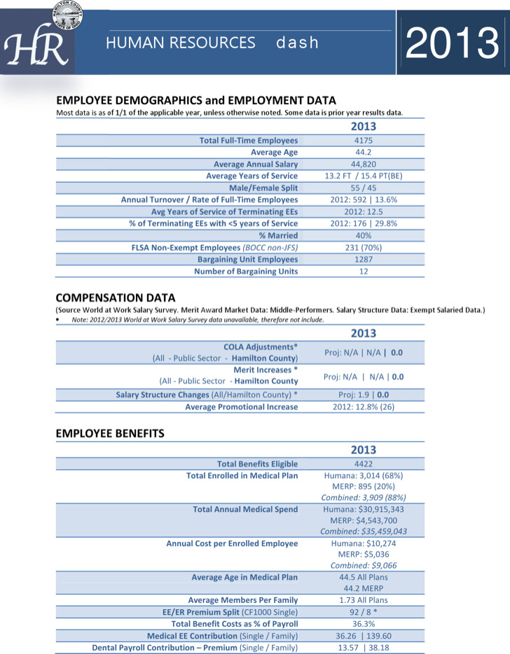Human Resource Dashboard Example