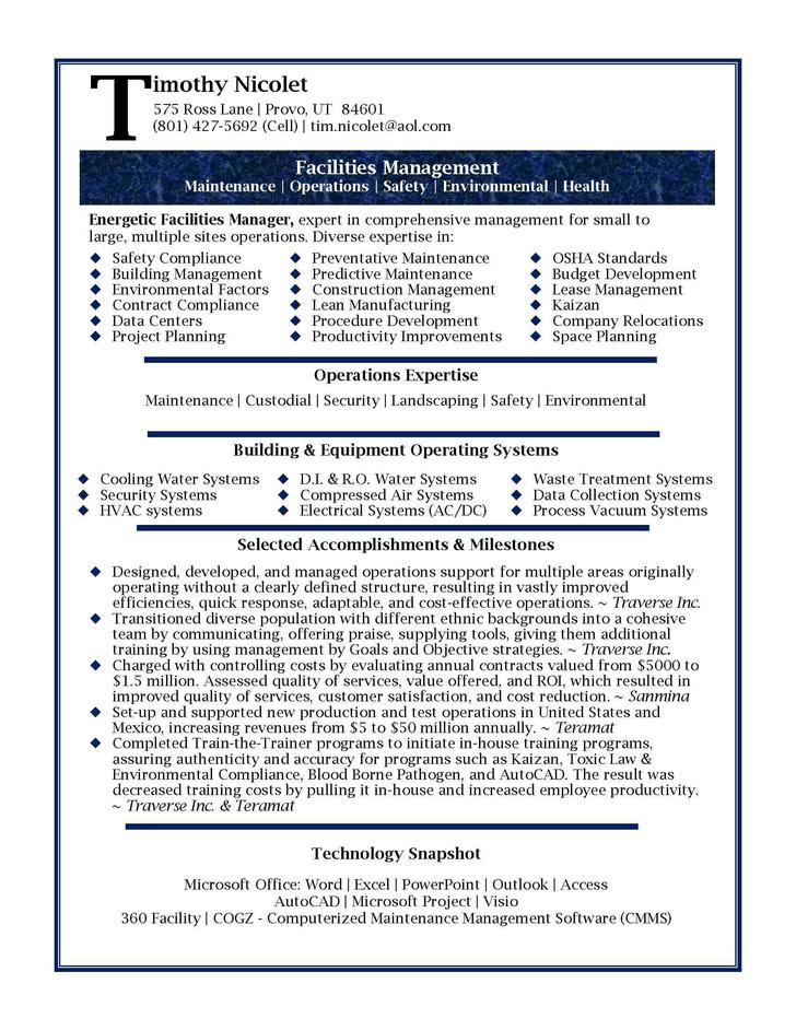 Human Resources Manager Resume Format Template
