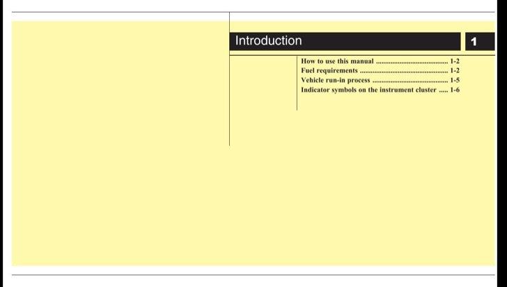 Hyundai Owners Manual Sample