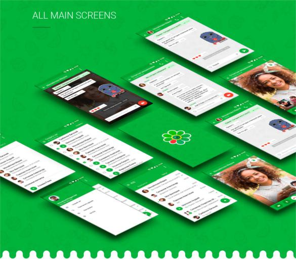 ICQ Video Chat Concept App Design