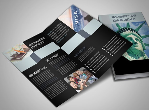 Immigration Attorney Bi-Fold Brochure Template