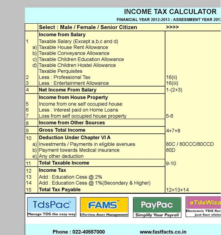 Income Tax Calculator 2
