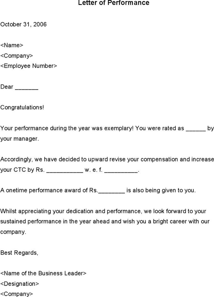 Increment Letter Template