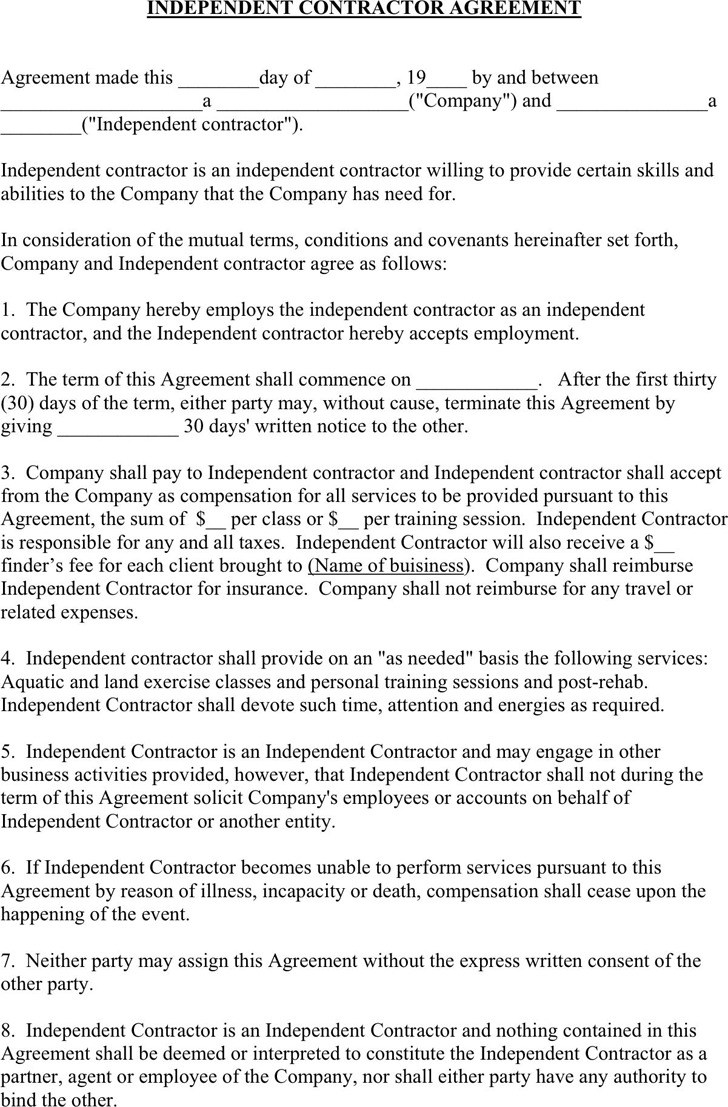 Independent Contractor Agreement 2