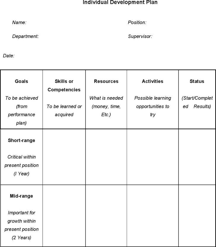 Individual Career Development Plan