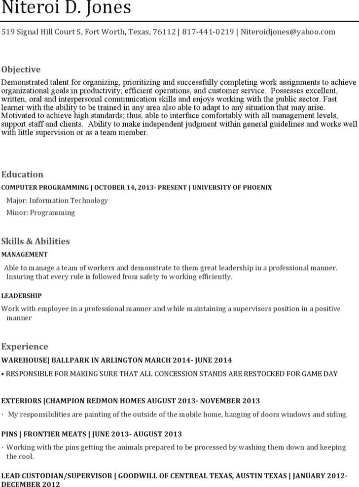 Industrial Seamstress Resume