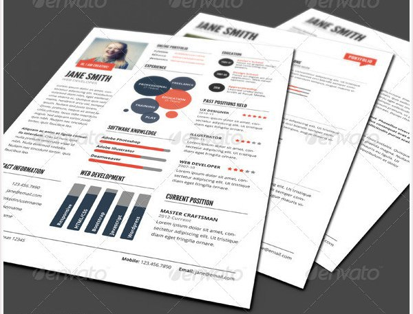 InfoGraphic Style Dark Resume Template