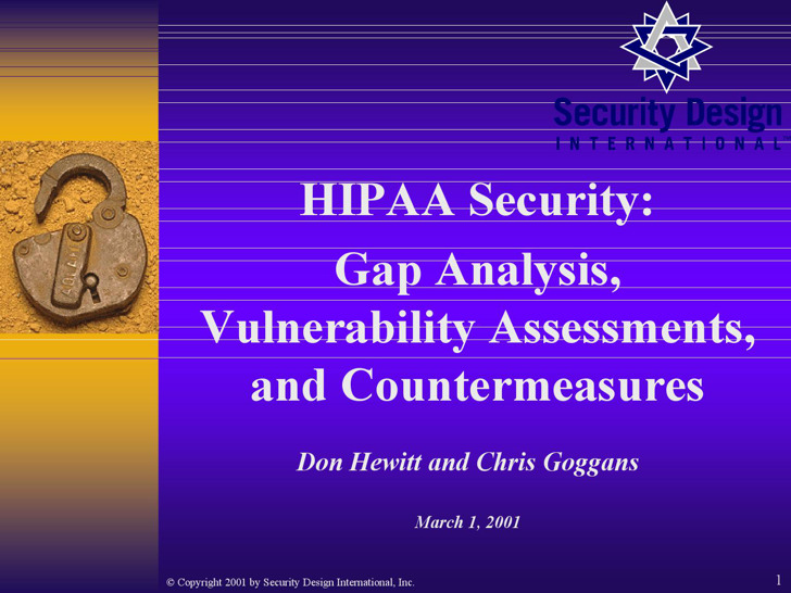 Information Security Gap Analysis