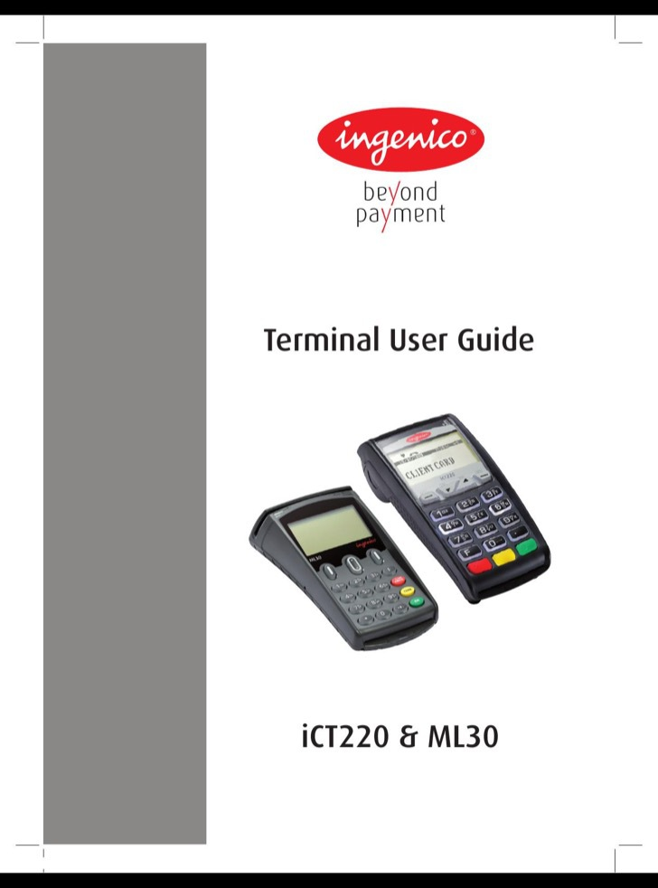 Ingenico User's Manual Sample