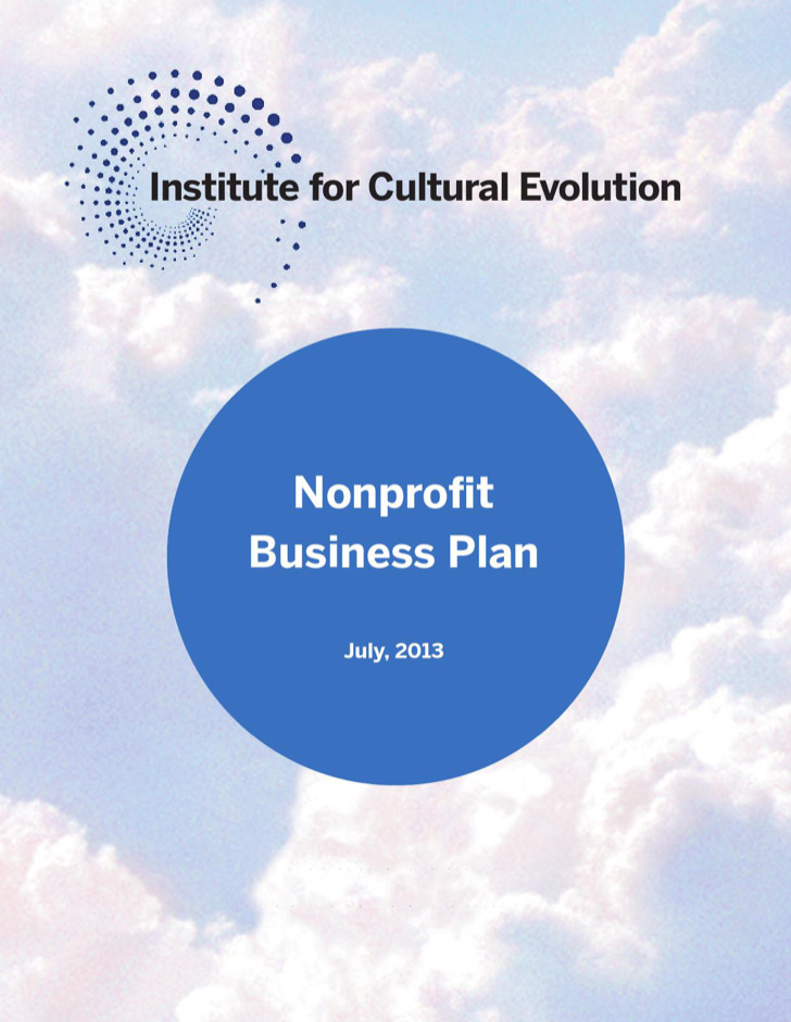 Institute For Cultural Evolution Nonprofit Business Plan Template