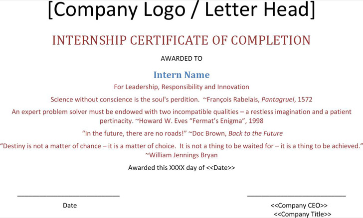 Download internship certificate templates for free tidytemplates internship completion certificate template thecheapjerseys Images