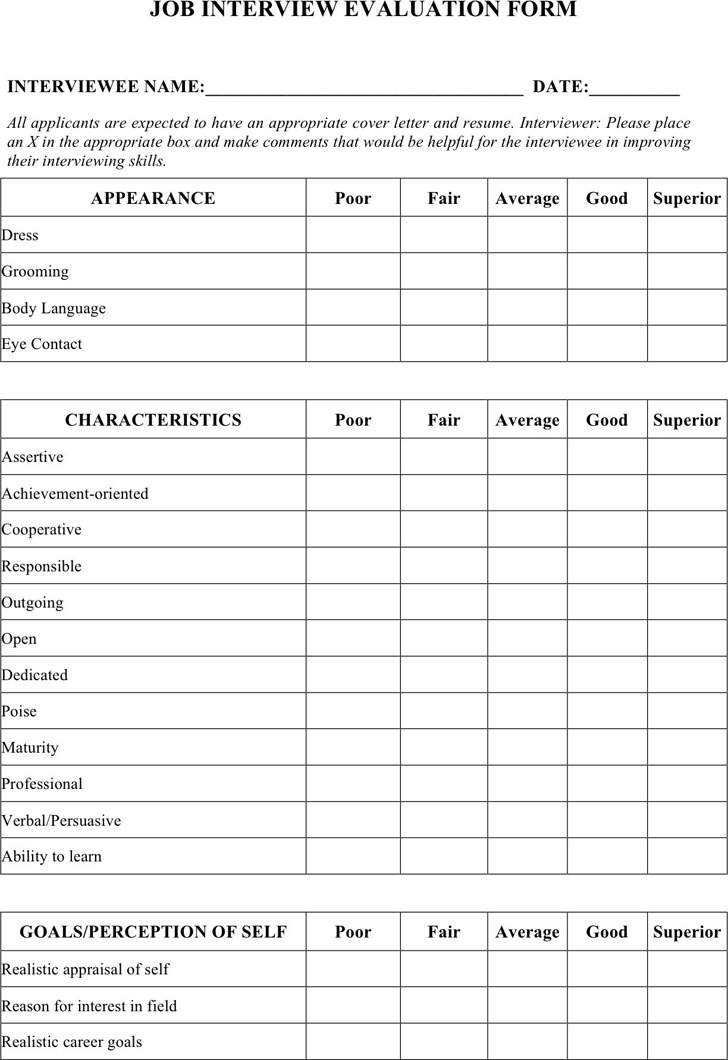 Job Interview Evaluation Form3