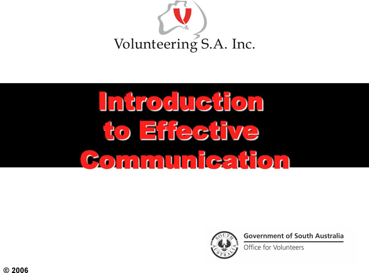 Introduction to Effective Communication Presentation