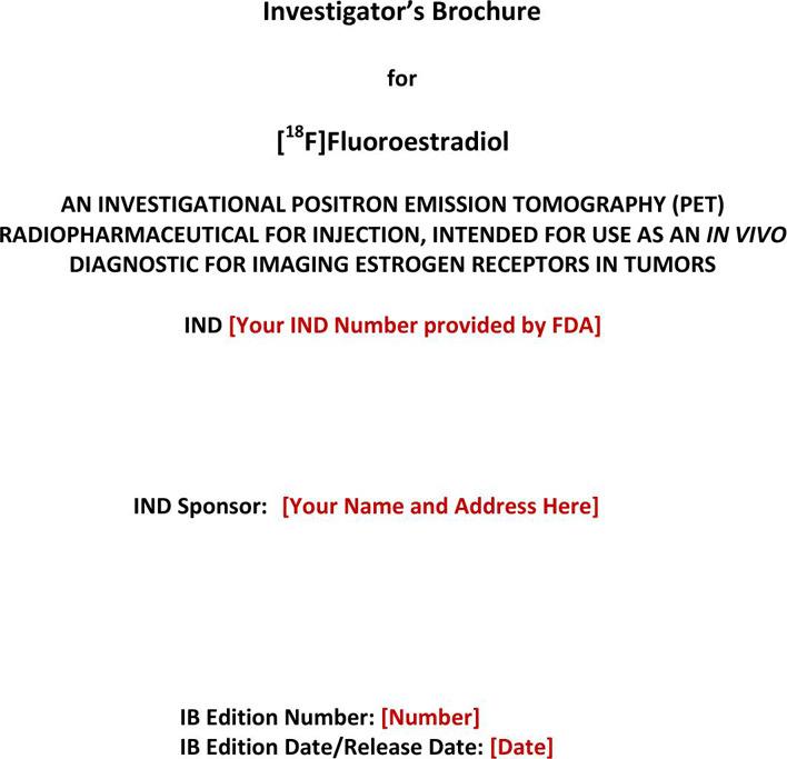 Investigator' Brochure