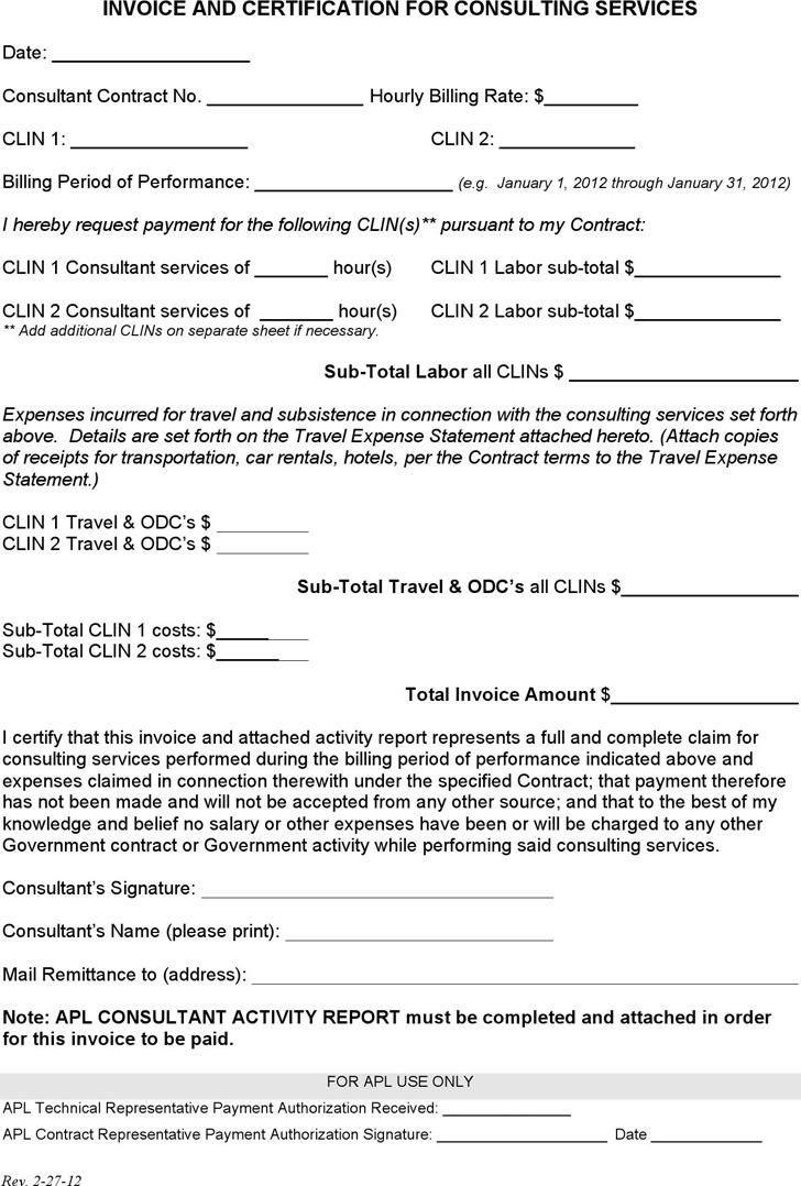 Invoice Consultant