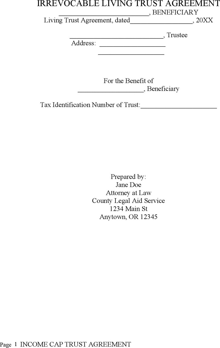 Irrevocable Living Trust Agreement