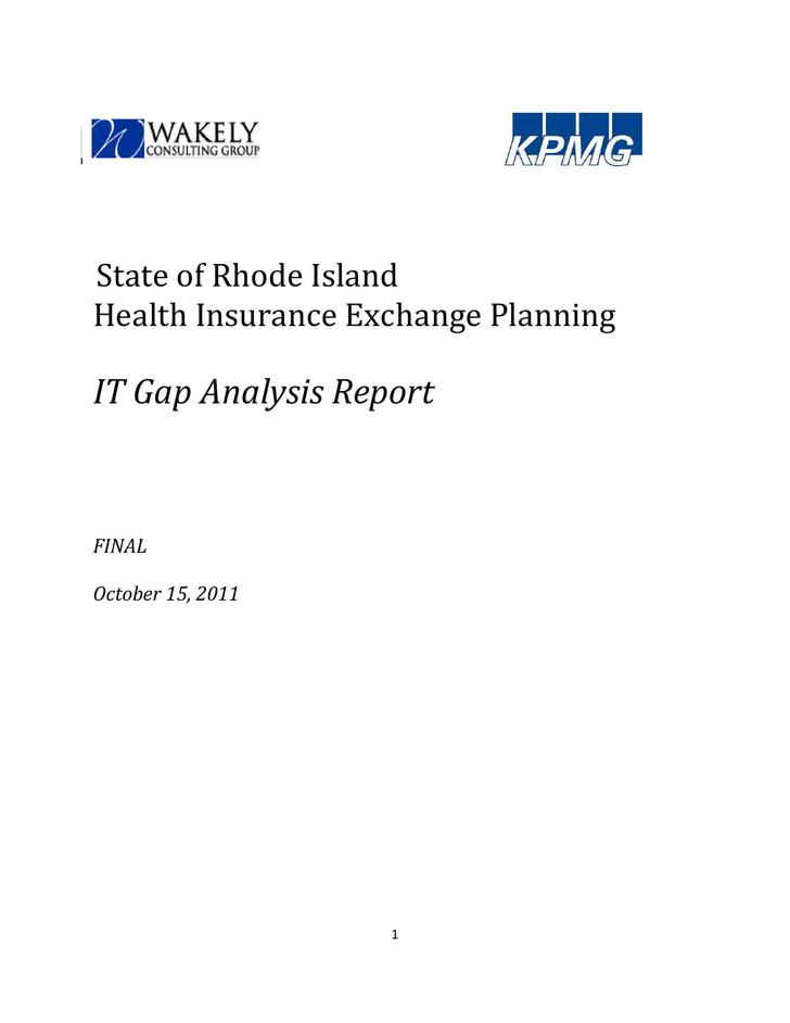 IT Gap Analysis Report PDF Template Free Download
