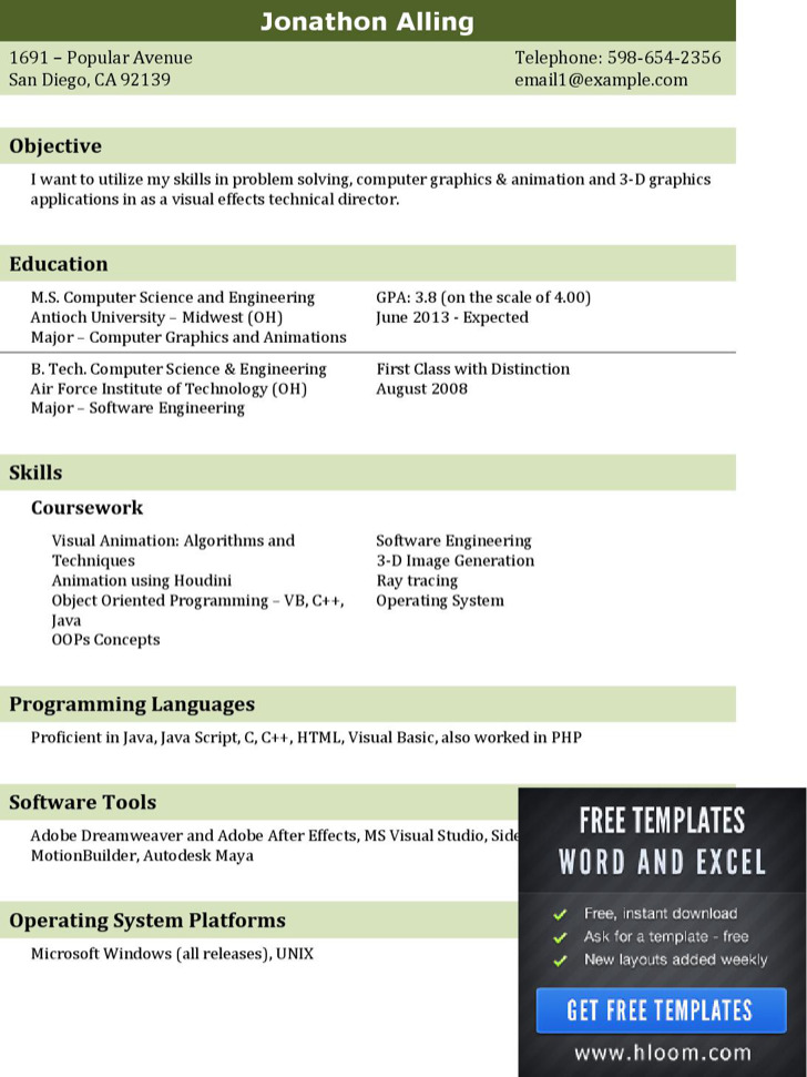 It Professional Resume