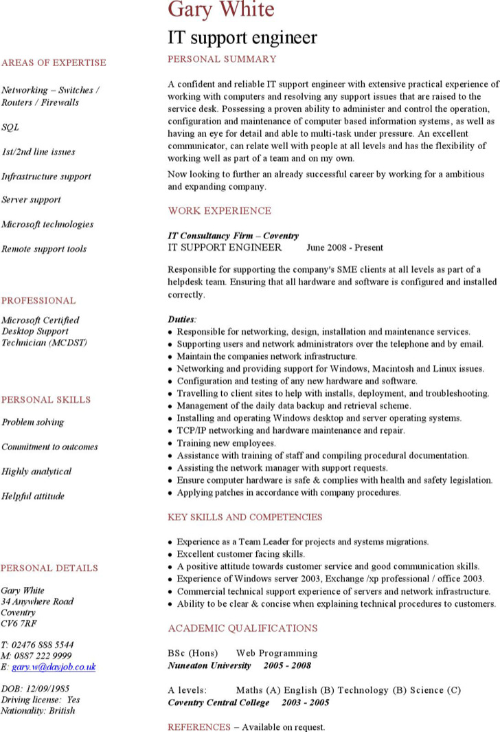 7  engineering resume templates free download