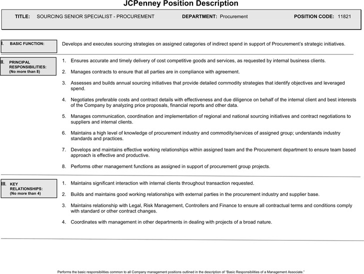 1 Jcpenney Job Application Form Free Download