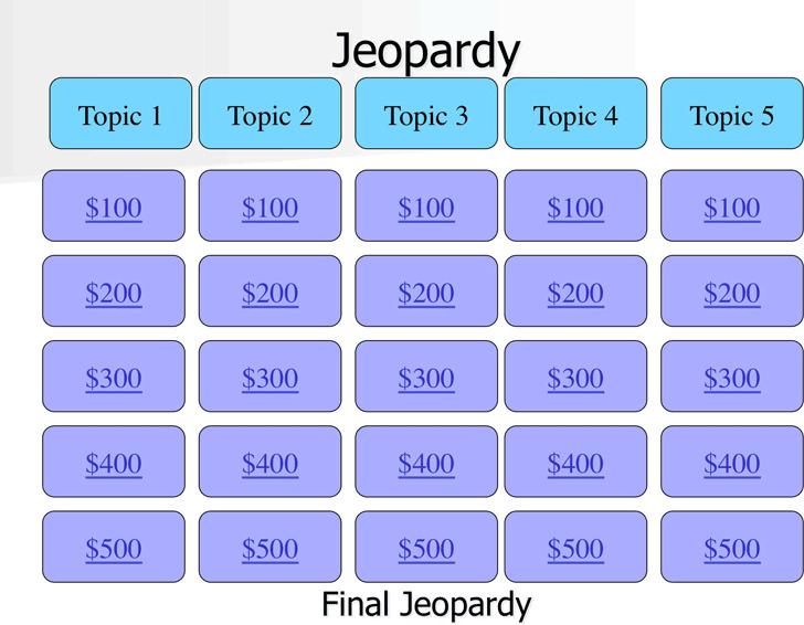 Jeopardy Template 2