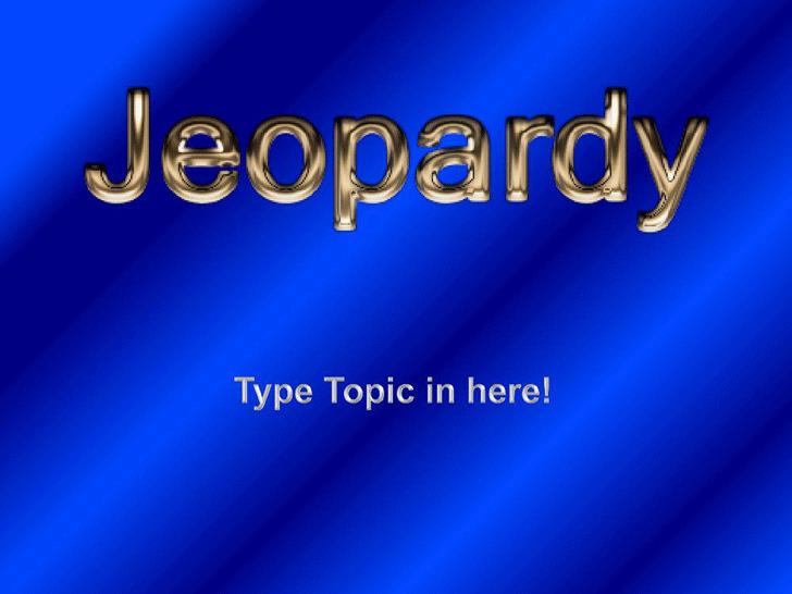 Jeopardy Template Design 1