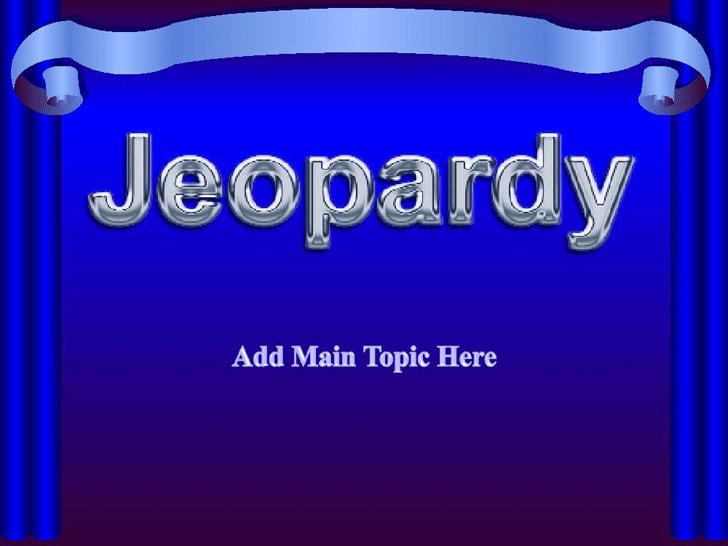Jeopardy Template Design 2
