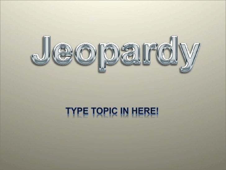 Jeopardy Template Design 3
