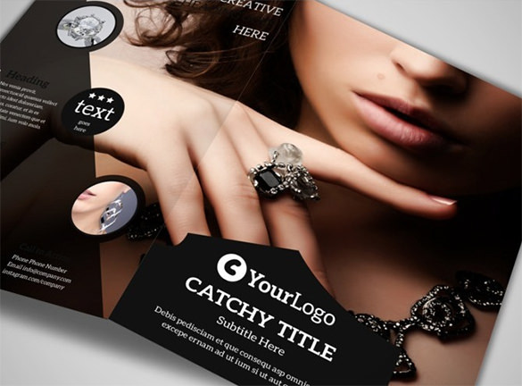 Jeweler & Jewelry Store Brochure Template 8.5
