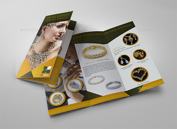 Jewelry and Accessories Tri Fold Catalog Brochure