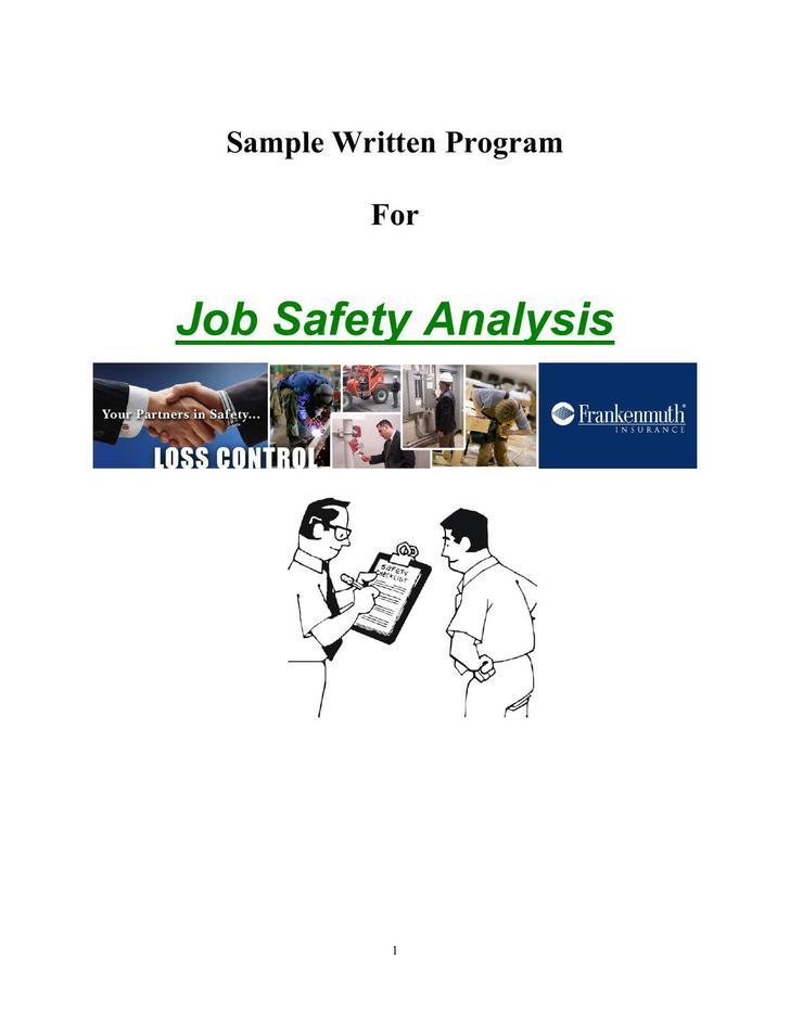 Job Safety Analysis PDF