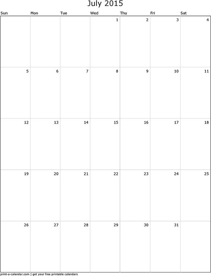 July 2015 Calendar 3