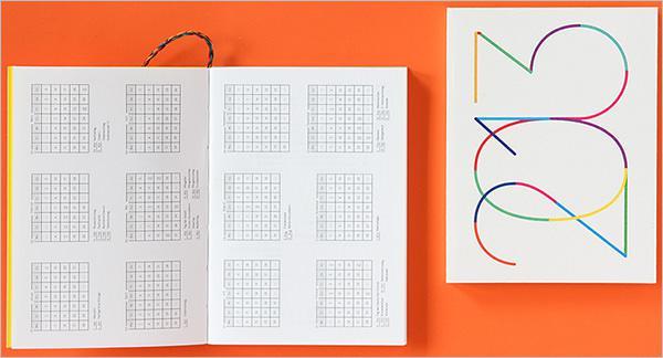 Jumble Pocket Calendar Template