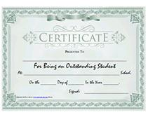Junior High School Diploma Certificate Template