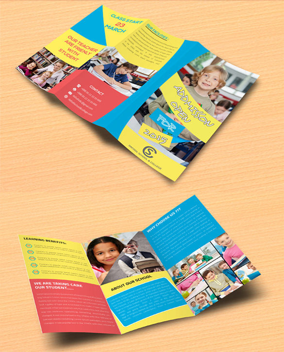 Junior School & College Promotion Tri Fold Brochure