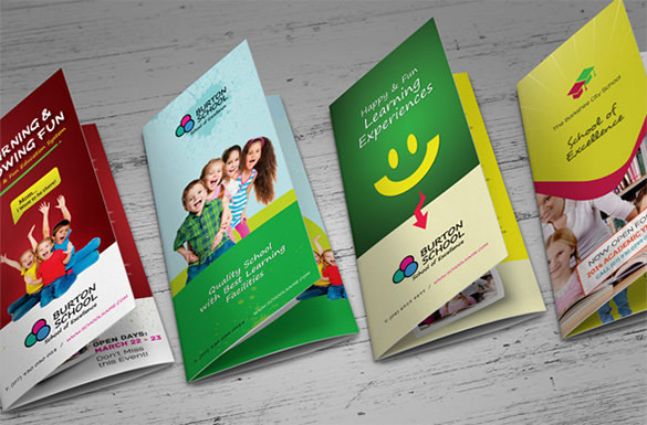 Junior School Trifold & Bifold Brochures Design
