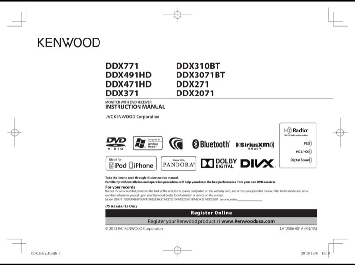 Kenwood Owners Manual Sample
