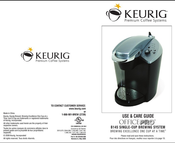 Keurig Owners Manual Sample