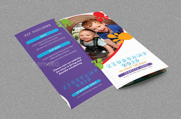 Kids Summer Camp Beautiful Brochure Template
