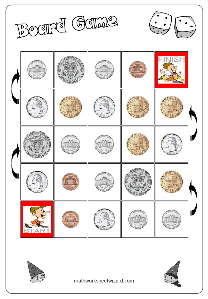 kindergarten Money Worksheet Templates For Kids