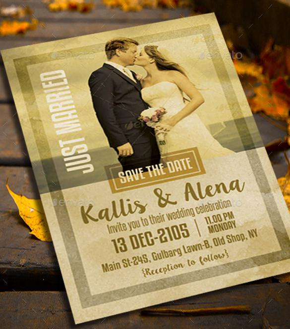 Kissing Couple Theme Wedding Invitation Template Download
