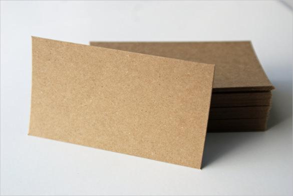 Kraft Brown Bag Paper Blank Business Card Set of 40